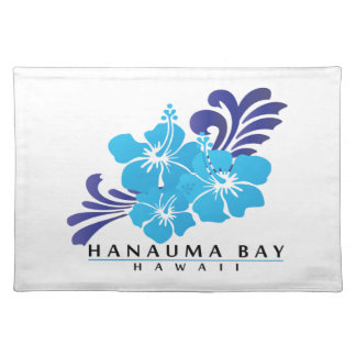 Hawaii Blue Hibiscus Flower Placemat