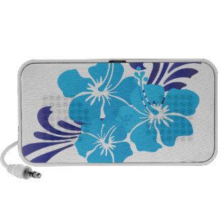 Hawaii Blue Hibiscus Flower iPod Speaker
