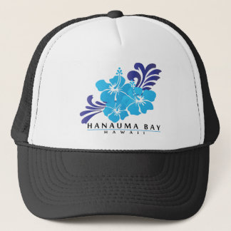 Hawaii Blue Hibiscus Flower Trucker Hat