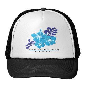 Hawaii Blue Hibiscus Flower Trucker Hat