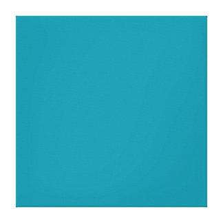 Hawaii Blue Personalized Aqua Teal Background Canvas Print