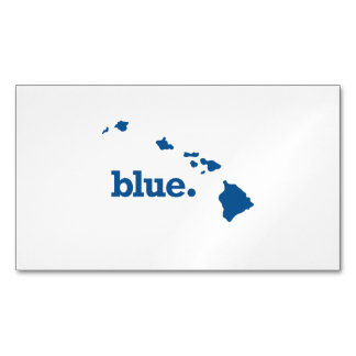 HAWAII BLUE STATE MAGNETIC BUSINESS CARD