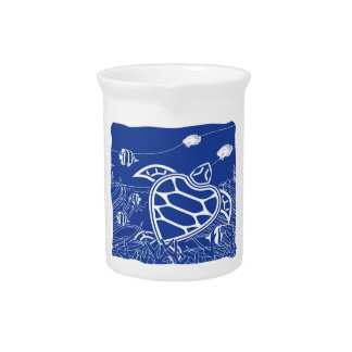 Hawaii Blue Turtle Drink Pitcher