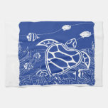 Hawaii Blue Turtle Towels