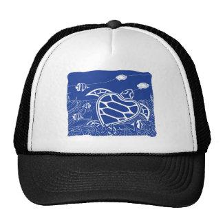 Hawaii Blue Turtle Trucker Hat