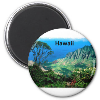 Hawaii Breezes valle Kauai (St.K.) de Kalalau Imán Redondo 5 Cm