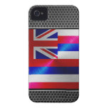 Hawaii brushed metal flag Case-Mate iPhone 4 cases
