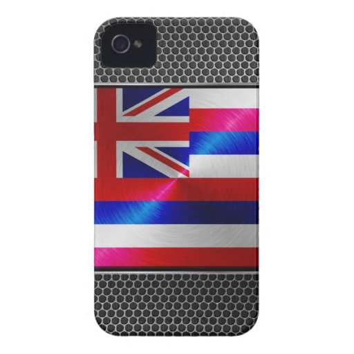 Hawaii brushed metal flag iPhone 4 Case-Mate cases