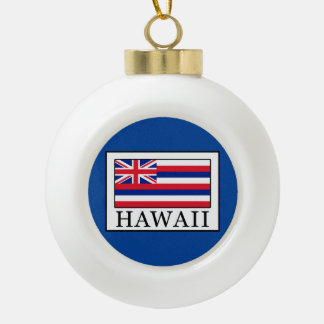 Hawaii Ceramic Ball Christmas Ornament