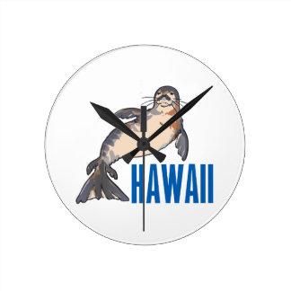 Hawaii Round Wall Clock