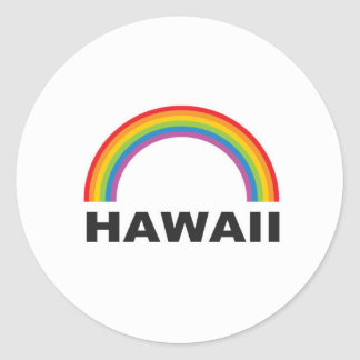 hawaii color arch classic round sticker