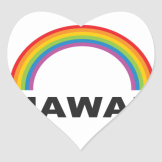 hawaii color arch heart sticker