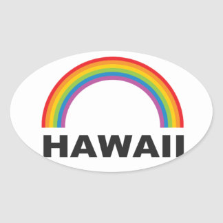 hawaii color arch oval sticker