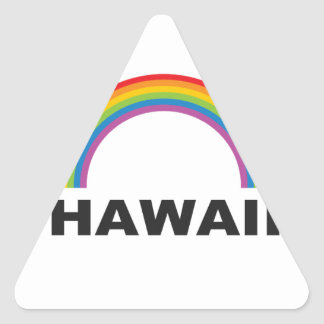 hawaii color arch triangle sticker