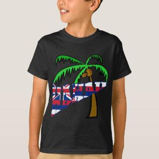 Hawaii con los productos de la palmera poleras