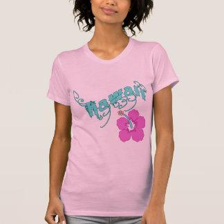 Hawaii con los productos del hibisco playera