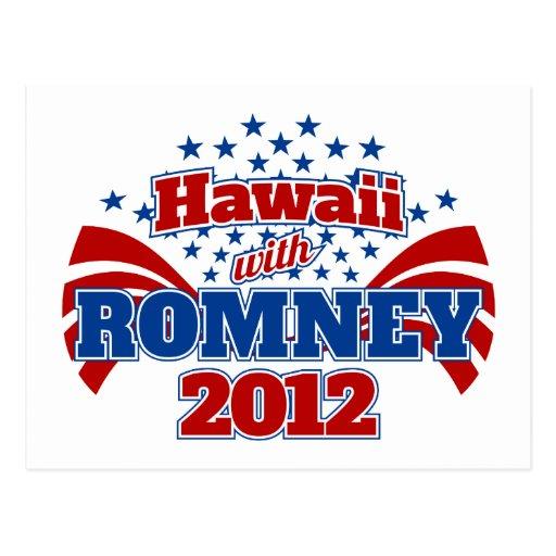 Hawaii con Romney 2012 Postal