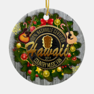 Hawaii Country Music Fan Christmas Ornament