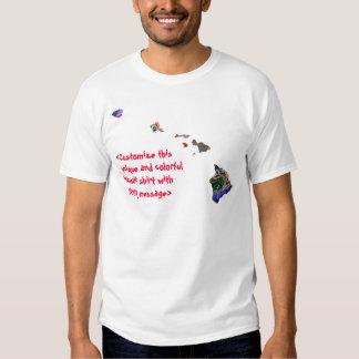 Hawaii Customizable Colorful T-Shirt  - Customize