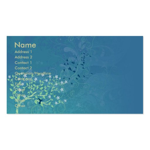 Hawaii dazzles business cards