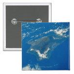 Hawaii del espacio pin cuadrado