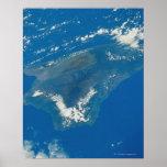 Hawaii del espacio póster