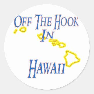 Hawaii - del gancho etiquetas redondas