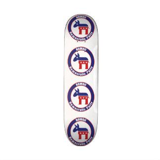 Hawaii Democratic Party Custom Skate Board