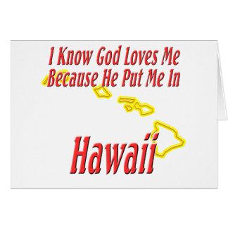 Hawaii - dios me ama tarjeta