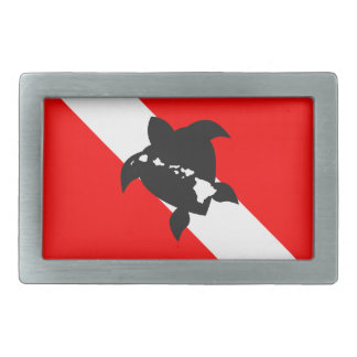 Hawaii Dive Flag Rectangular Belt Buckle