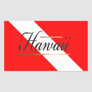 Hawaii Dive Flag Stickers