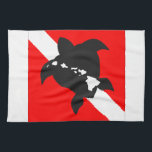 """Hawaii Dive Flag Towel<br><div class=""""desc"""">Scuba Diving is very popular in Hawaii. There are many dive sites on Oahu,  Maui and the Big Island. Hanauma Bay is a popular dive site on Oahu.</div>"""