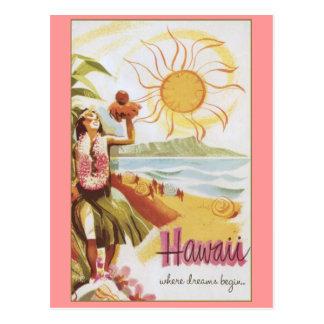 Hawaii - donde los sueños comienzan postales