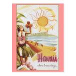 Hawaii - donde los sueños comienzan tarjeta postal