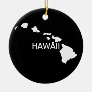 Hawaii Eight Islands Ceramic Ornament