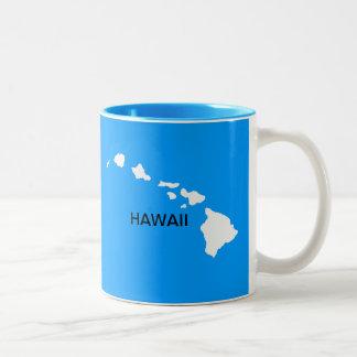 Hawaii Eight Islands Two-Tone Coffee Mug
