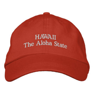 Hawaii el estado de la hawaiana gorro bordado