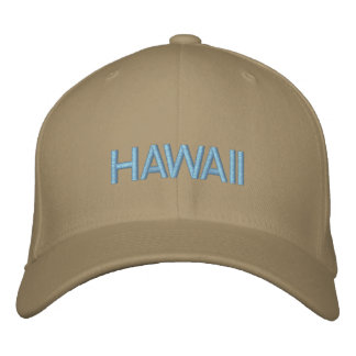 HAWAII EMBROIDERED BASEBALL HAT