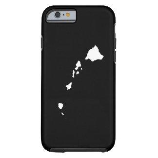 Hawaii en blanco y negro funda resistente iPhone 6
