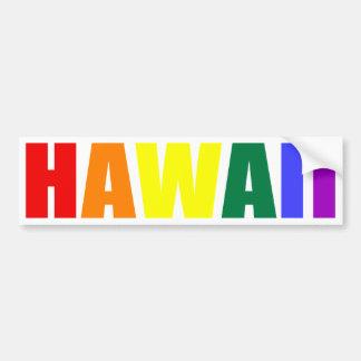 HAWAII en colores del arco iris Pegatina Para Auto