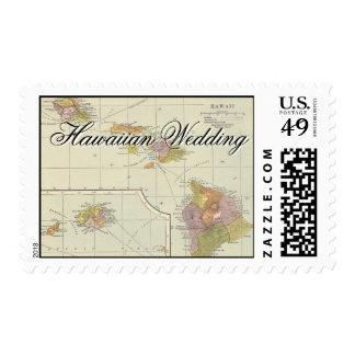 Hawaii en el mapa sello
