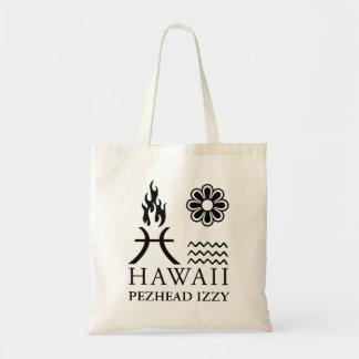 Hawaii en Glyphs en un bolso Bolsa Tela Barata