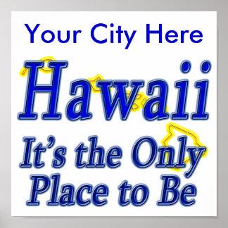 Hawaii es el único lugar a ser impresiones