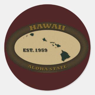 Hawaii Est. 1959 Classic Round Sticker