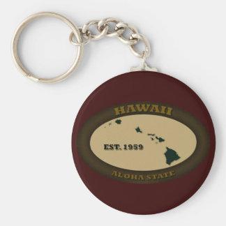 Hawaii Est. 1959 Llavero Redondo Tipo Pin