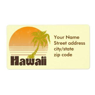 Hawaii Etiqueta De Envío