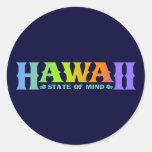 Hawaii Etiqueta Redonda