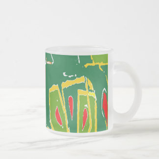 Hawaii Fauvism Abstract Shapes Frosted Glass Coffee Mug