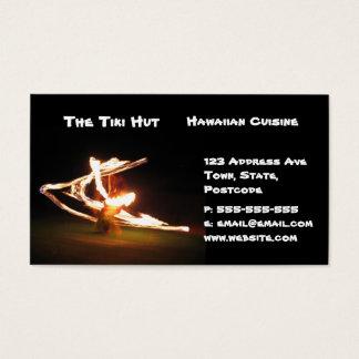 Hawaii Fire Dance Business Card