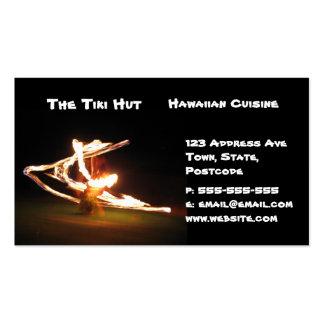 Hawaii Fire Dance Business Card Template